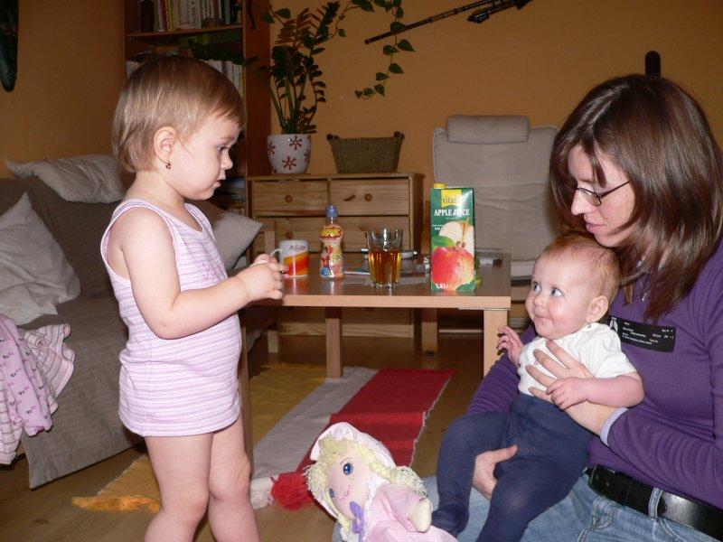 s tetou Šárkou a Májou